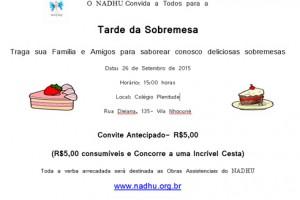 Convite: Tarde da Sobremesa – 26/09/2015