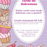 Convite: Tarde da Sobremesa em 11/11/2017